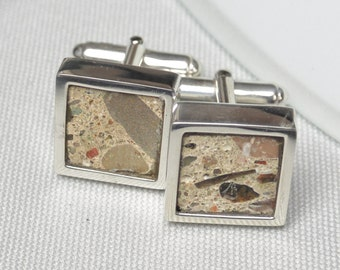 Berlin Wall Cufflinks in Sterling Silver