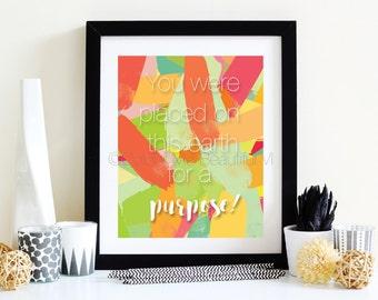 Purpose | 8x10 | Typography