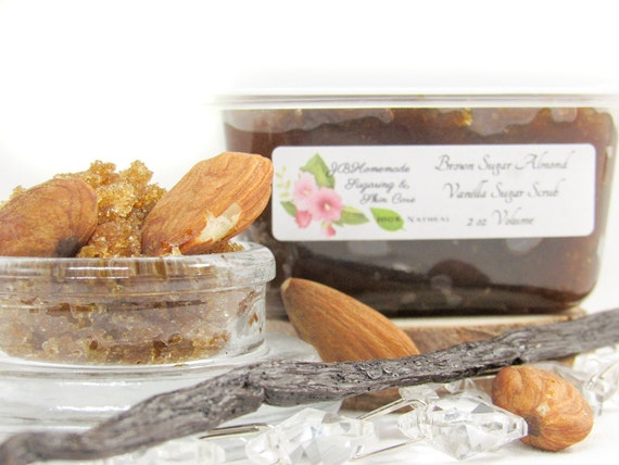 Almond Vanilla Brown Sugar Scrub Body Polish - 2 Oz