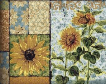 Sunflower Gold Patch Curtain Valance