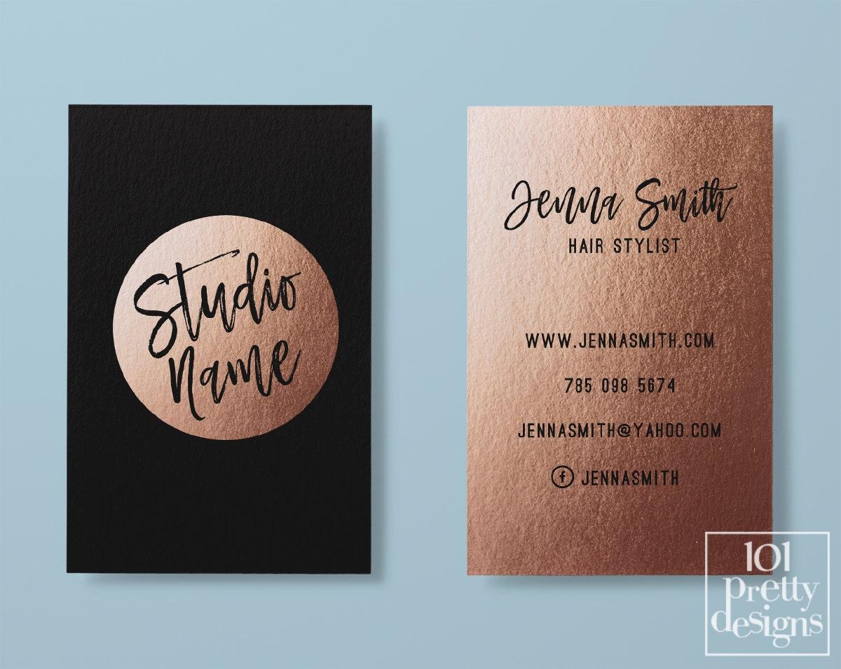 Rose gold business card makeup business card black gold description your business card magicingreecefo Gallery