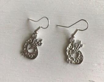 Artist pallet earring