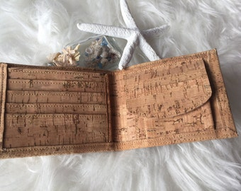 Beautiful Cork wallet men handmade
