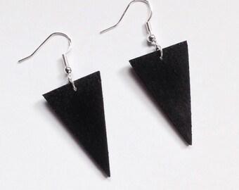 Black Triangle Earrings