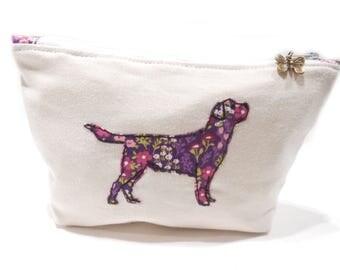 Labrador Cosmetic Bag, Labrador Makeup Bag, Labrador Pencil Pouch
