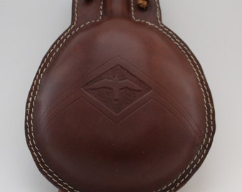 Premium Leather Bottle - Leather Flask - 1 litre capacity