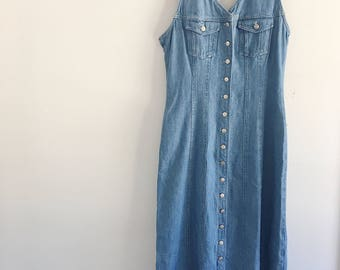 Women's Vintage 90's Denim Dress SIZE 12