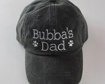 Dog Dad Baseball Cap || Embroidered Dog Lover Hat || Monogram Gift by Three Spoiled Dogs Made in USA
