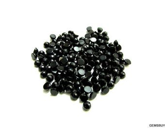 10 pieces 3mm black onyx round rose cut cabochon gemstone, black onyx rosecut round cabochon, black onyx cabochon rose cut round gemstone