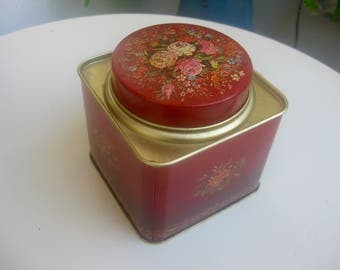 old, floral Tea Caddy