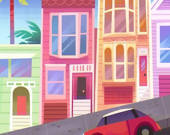San Francisco Hill - Art Print