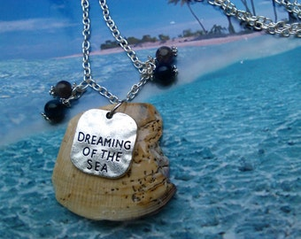 Beach Pottery Necklace, Dreaming Of The Sea Necklace, Nautical Necklace, Seaside, Beach, Charm Necklace, Beach Jewelry, Beach Lover,