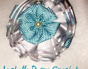 Shinny in blue hair clip