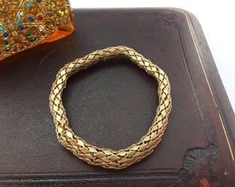 Fancy Link Gold Tone Expander Bracelet