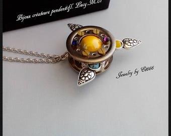 Jewelry creators metal pendant. Lucy.M.01