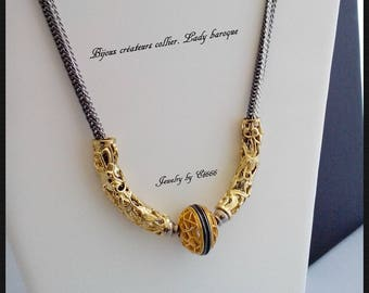 Jewelry designers necklace. Lady Baroque