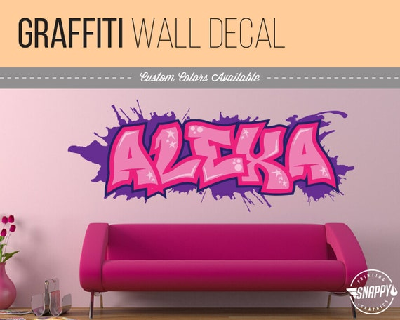 Custom Graffiti Name Style And Color Scheme Wall Decal - Custom vinyl wall decals graffiti