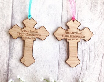 Holy communion cross - personalised cross first communion gift christening baptism