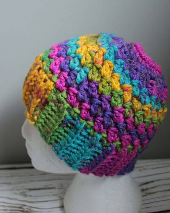 Messy Chunky Beach Waves Easy Tutorial: Items Similar To Crochet Child's Chunky Messy Bun Hat With