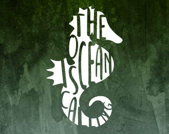 The Ocean is Calling Sea Horse Decal for Cars, YETI Cups, MacBooks, Laptops and more!   Car Decals for Women   Beach Decal   Ocean Decal