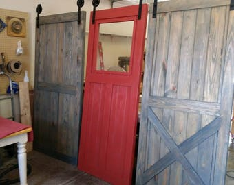 Custom Single Sliding Wood Barn Door