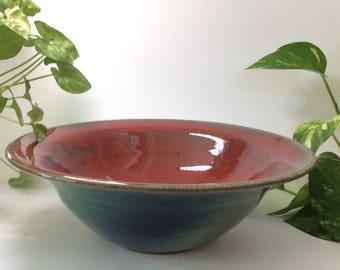 Flared ceramic bowl