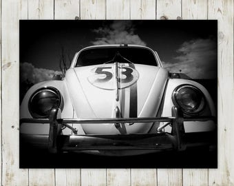 Herbie VW Beetle | Instant Digital Download Photography | Printable in Various Sizes: 5x7, 8x10, 11x14 | DIY and Save!