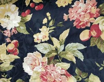 Bramasole - Waverly Fabric - Onyx - fruit - floral - damask - by the yard - Morningstars
