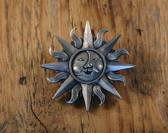 Celtic Sun & Moon Brooch