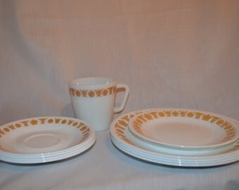 Corelle Butterfly Gold Dishes