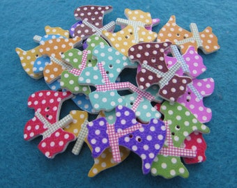 Spotty Scottie Dog Buttons