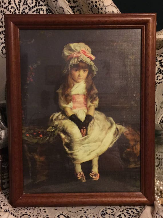 Victorian Wall Art victorian girl picture vintage victorian wall art sweet