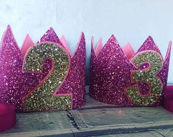 Glittery birthday crown