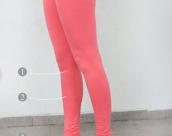 Choose the length pink leggings/yoga leggings/ sport leggings/ big size leggings/ long leggings.