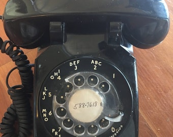 Vintage 1950's Old Rotary Phone Original Western Electric