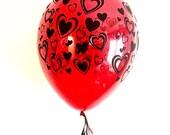 Valentine's Day Balloon Balloons- Heart Balloons-Red Balloons