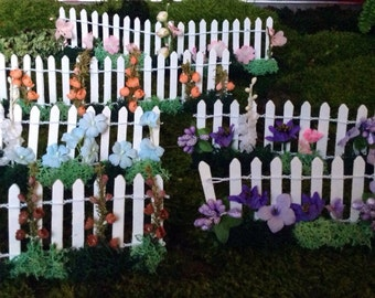 Handmade Miniature Fairy Garden Fences Mniature Garden Fences Miniature White Picket Fences OOAK Handmade Miniatures Fairy Garden Accessory