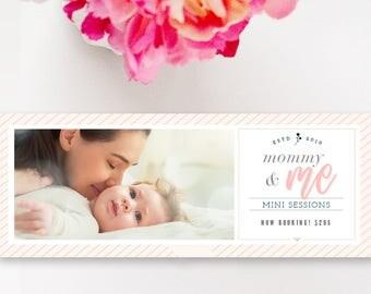 Mother's Day Mini Session Facebook Timeline Cover, Photographer Templates, Digital Design, Facebook Banner Design - INSTANT DOWNLOAD