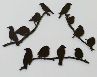 Bird Branch Set - Small - Metal - (DD14---), (DD16---) and (DD17---)