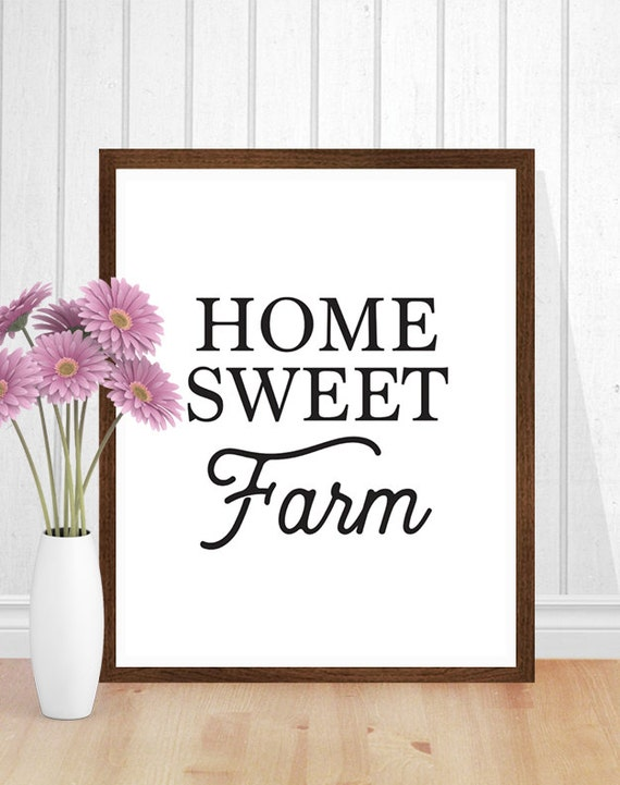 home sweet home interiors farmhouse decor home sweet farm farmhouse print country 18435
