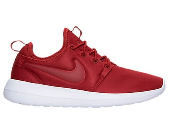 Swarovski Nike Roshe Two Dark Cayenne Red Women's Shoes Customized With Swarovski Crystals Bling