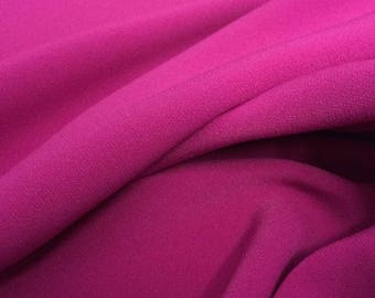 """Fuchsia 4-Ply Crepe Knit, incredible texture and drape, Price is per Yard, 60"""" wide, a 1+ yard piece"""