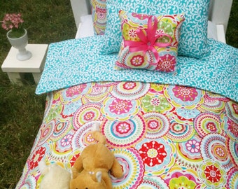 "Doll Bedding Set for American Girl AG Dolls 18"" or smaller"