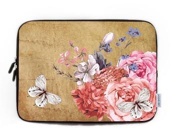 Vintage Floral Laptop Sleeve , Personalized Laptop Bag Laptop Sleeve 13,Watercolour Paint Laptop Sleeve 15,Laptop Case 13,Macbook Air Bag