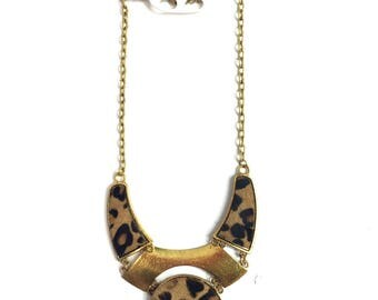 Gold Leopard Mix Necklace