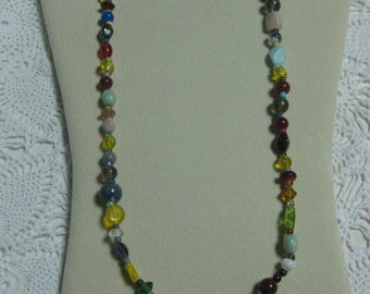 Y-  Glass Mardi Gras beads from New Orleans-Carnival --Parade