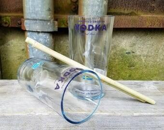 Handmade Glasses Set From Upcycled Svedka Vodka Bottles, Party Glasses, Glass Cups
