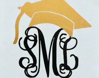 Senior Monogram Vinyl Decal