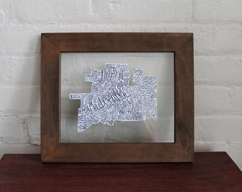 State/City - Float Frame (Brown)