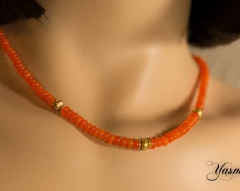 Fire opal dream necklace